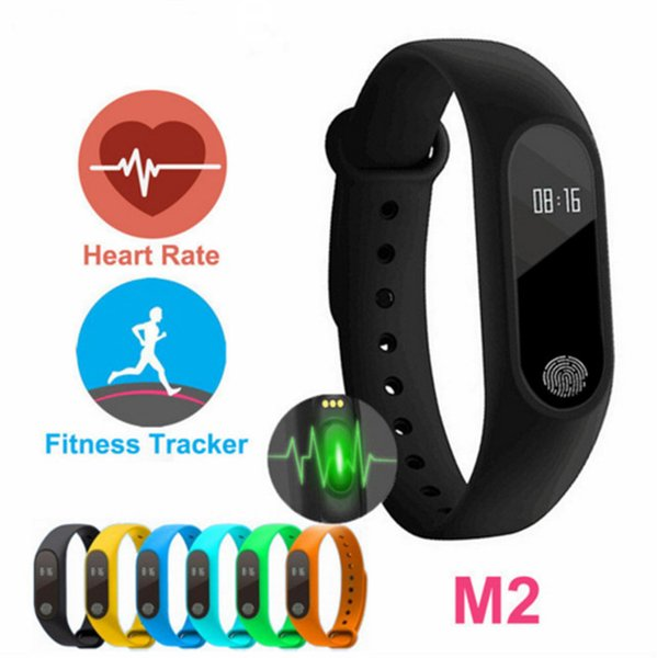 New M2 XIAOMI Fitness tracker Watch Band Heart Rate Monitor Waterproof Activity Smart Bracelet Pedometer Call remind With OLED Display