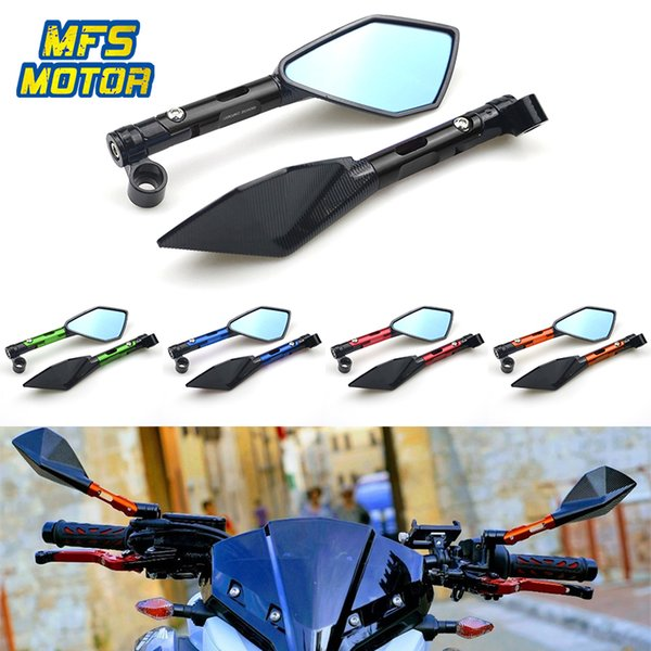 Specchietti retrovisori specchietti retrovisori in alluminio CNC universale da 8 mm 10 mm per tutti i modelli Street Sports Bike Chopper ruiser