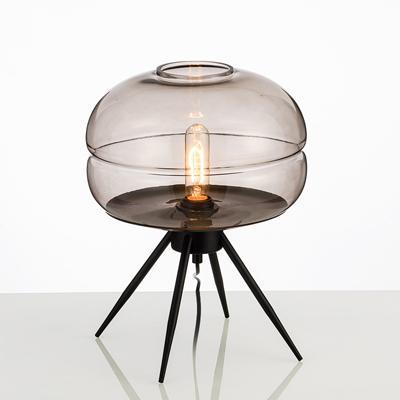 Smoky grey glass lampshade