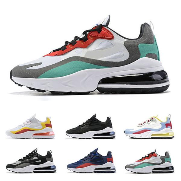 Acheter Nike Air Max 270 React Cushion Sport Baskets Chaussures Décontractées Designer 27c Habanero Rouge 3M Regency Violet BHM Iron Man Overall De