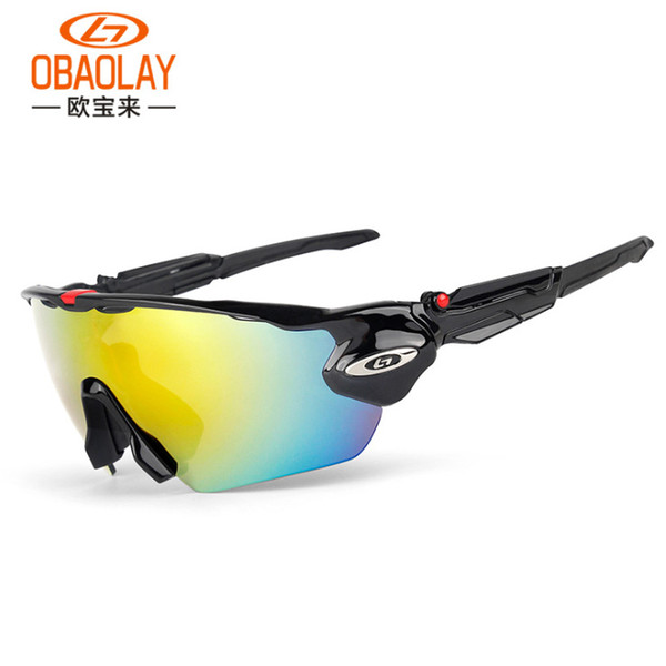 top popular Cycling Sunglasses High Quality 5 Lenses Polarized Sunglasses For Mens Womens gafas Sport Bicycle Running Mens Eyewear With Box 2019