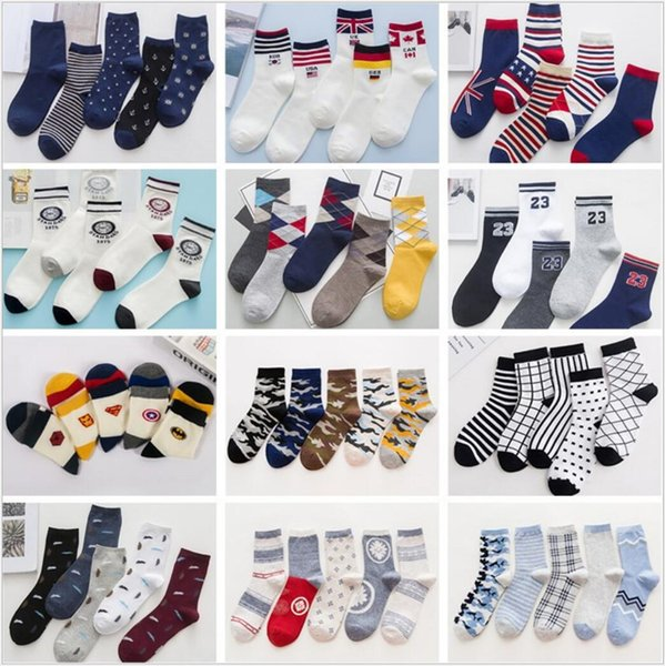 top popular Cheap Price Men Socks Classic Business Socks Men High Quality Breathable Cotton Casual Socks Spring Autumn 2019