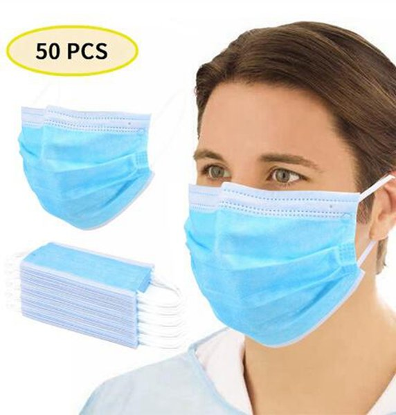 in stock disposable face mask 3 layer ear-loop dust mouth masks anti-dust cover non-woven protective masks breathable mask gga3301