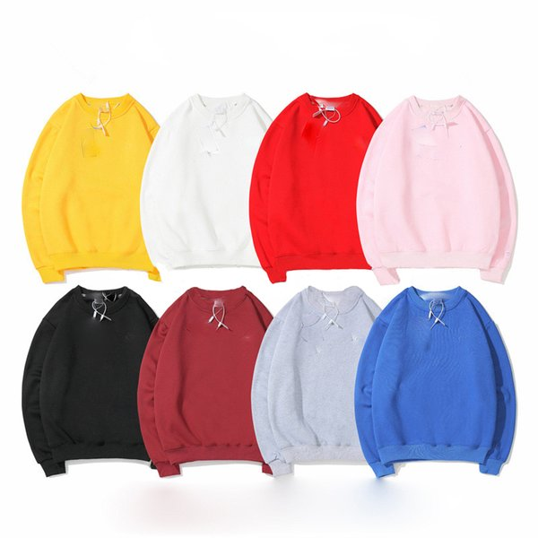 best selling Men Winter Fashion Solid color Harajuku Lotus root Brand Pullover C Thick Loose Women Hoodies Sweatshirts Female Casual