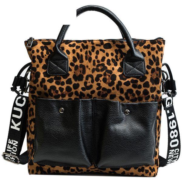 good quality Fashion Brand Leopard Design Women Shoulder Bag Leopard Printed Handbag For Female Large Capacity Leather Handbag Lady