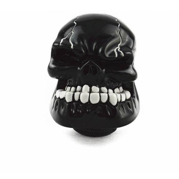 Manuel voiture universel de vitesse bâton Maj Shifter levier Bouton Wicked sculpté crâne Masque d'argent noir or bleu rouge vert