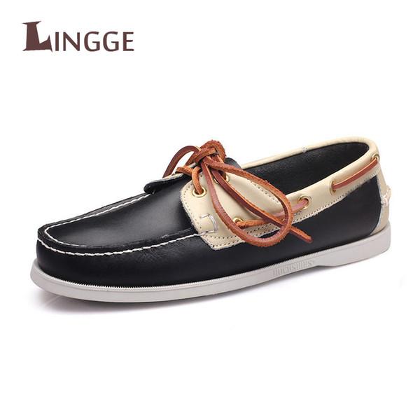 Moda Rahat Nefes Yumuşak Hakiki Deri Loafer'lar Ayakkabı Mens Moccasin Ayakkabı Rahat Yanlış Erkekler Kış