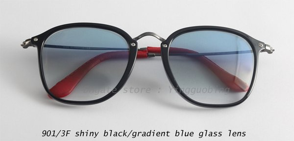 901/3F shiny black/gradient blue lens