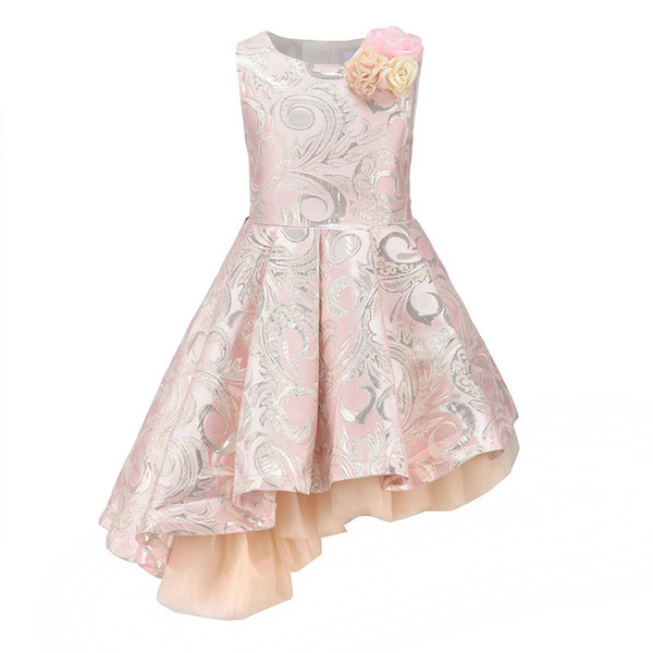 Childdkivy Girls Princess Dress 3-12years Kids Sleeveless Autumn Winter Dresses For Baby Girl Robe Fille Children Party Clothes J190505