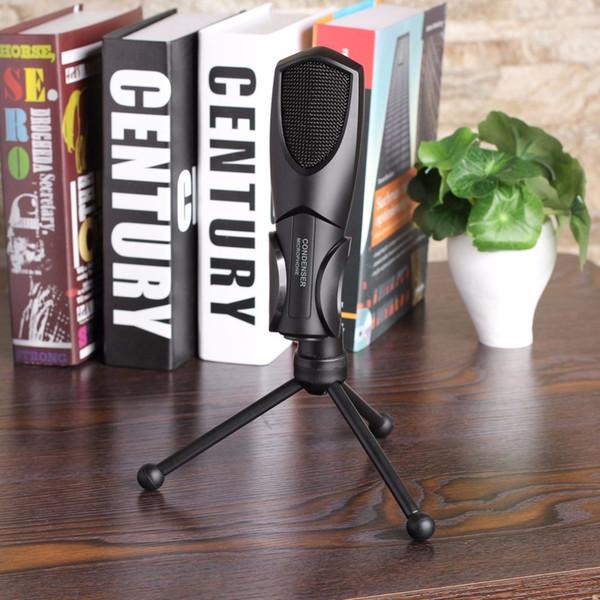 Livraison gratuite USB filaire à condensateur Son Podcast Studio Microphone pour PC Ordinateur portable Plug Play Durabilité à long terme