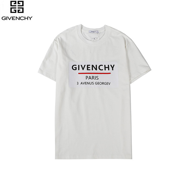 The fashionable short sleeves of the new T-shirt in 2020 are printed with the words G0846 for men and women in autumn and winte1