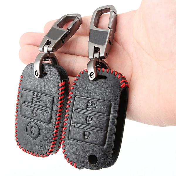Car Leather Key Cover Cases Holder Bag For KIA KX5 KX7 Rio 3 Sportage QL Ceed Sorento Cerato KX CROSS S K4 K5 CARENS Soul