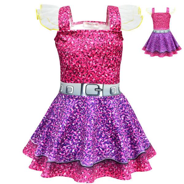 Compre Vestido De Fiesta Para Las Niñas Lol Vestido De Niña Para El Cumpleaños De Halloween Cosplay De Navidad Para Niños Ropa Para Niños Lol 3 6 8