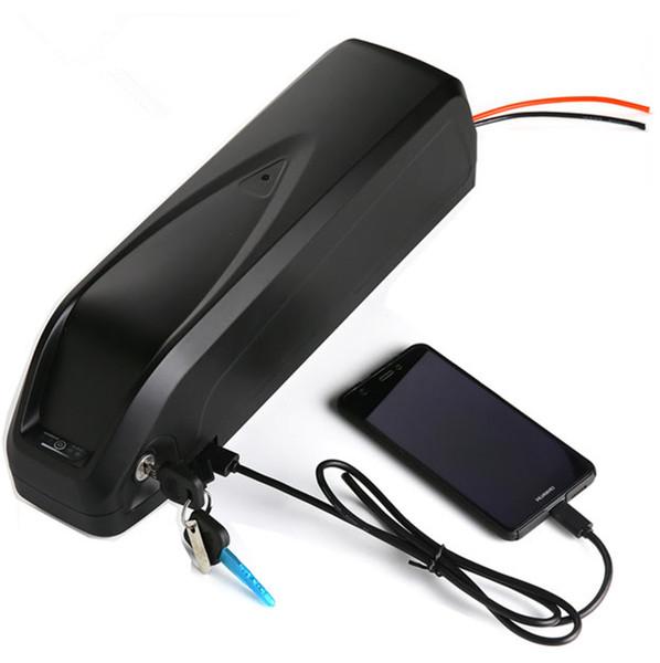 48V 13AH 850W downtube USB Hailong Batterie Ebike batterie batterie au lithium Envoyer chargeur UPS FEDEX TNT Livraison gratuite, aucune taxe