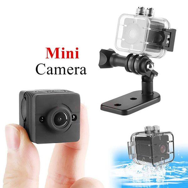 Mini Kamera SQ11 SQ12 Kaydedici Hareket Sensörü Full HD 1080 P Gece Görüş Su Geçirmez Kabuk Mikro Kamera AVI Video Kamera Kaydedici