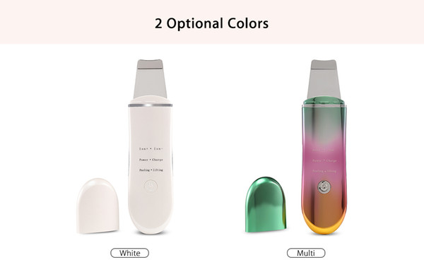 top popular Hot Sell Rechargeable Ultrasonic Ion Face Skin Scrubber Facial Cleaner Cleansing Spatula Peeling Vibration Facial Cleansing Devices 2021