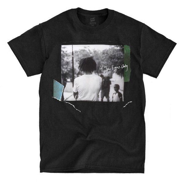 J Cole - 4 Your Eyez Only - Noir T-Shirt Fashion Manches courtes Vente 100% Coton Vente Chaude Hommes T Shirt Fashion Top Tee
