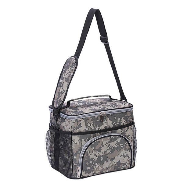 1PCS Portable Outdoor Travel Camping Picnic Alluminio Foglio di archiviazione Pranzo fresco Borsa Kit termica isolata Tote Box