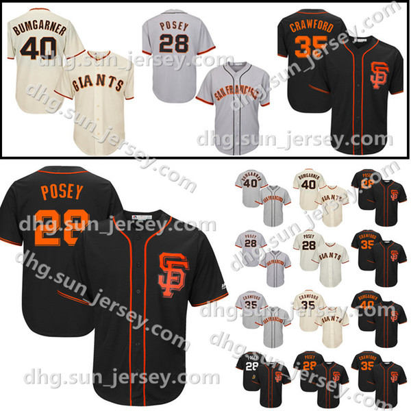 the latest 96fd0 baced 2019 Men'S San Francisco Jersey 40 Madison Bumgarner Giants #28 Baseball  Jerseys 35 Brandon Crawford Stitched Cheap Sale From Welove_jersey, $16.34  | ...