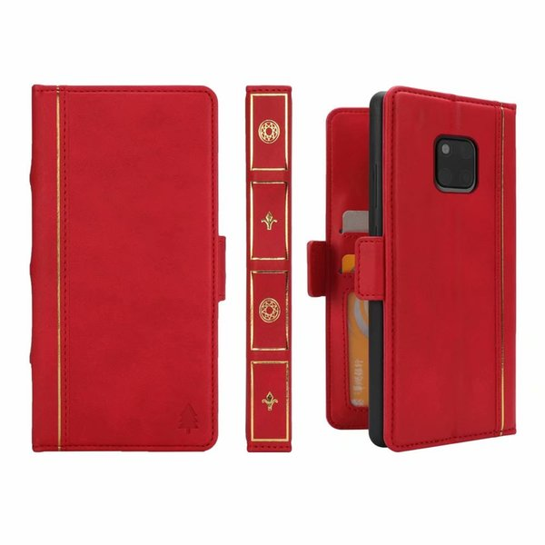 For Huawei Mate 20 Lite 20 Pro Book Style Leather Wallet Case Removable Detachable Retro Vintage Old 2 in 1 Flip Covers Magnetic Phone Pouch