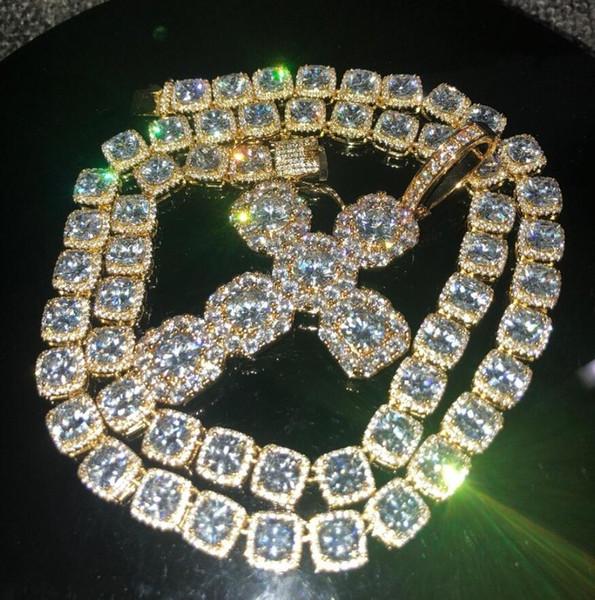 Ожерелье + крест-золото-20 дюймов