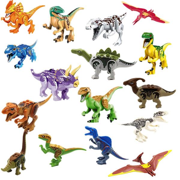 Compre Jurassic World 2 Legoings Dinosaurios Figuras Tyrannosaurus Rex Building Block Ladrillos Juguetes Dinosaurio Figura De Acción Colección Modelo