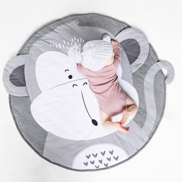 Enfant tapis de jeux pour enfants animaux rampants Tapis Tapis sol bébé tapis de jeu de couchage en coton doux Chambre enfants Décor photo Props 90CM SH190917