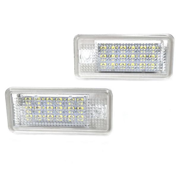 Gzhengtong Nikauto Automobile LED plaque d'immatriculation LED Nombre lampe de plaque pour Audi A3 S3 A4 S4 A6 C6 A8 S8 Q7 RS4 RS6