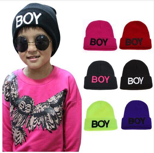 Hats for Boys Children Kids Letter Boy Beanie Baby Caps Ski Cotton Knitted Woolen Skull Hats For baby Boys Girls Accessories