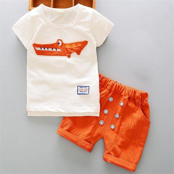 Qualidade verão bebê menino roupas set menino recém-nascido t-shirt + short tracksuit outfit criança crianças menino clothing set toddle clothing