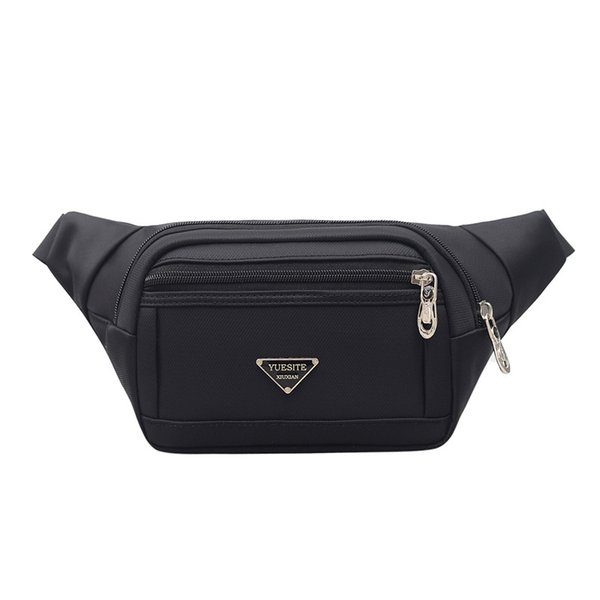 Puimentiua 2019 New Hot Style Men Leather Casual Waist Belt Bag Purse Hip Pouch For Phone Travel Sports Waist Packs