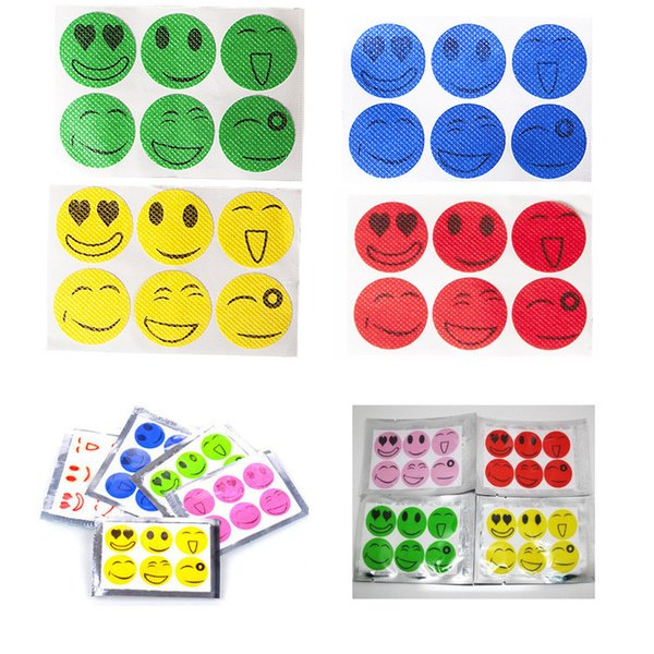 top popular Disposable Mosquito Repellent Stickers QQ Expression Face emoji Nature Anti Mosquito Repellent Insect Bug Patches for Baby Kids 6pcs bag 2019