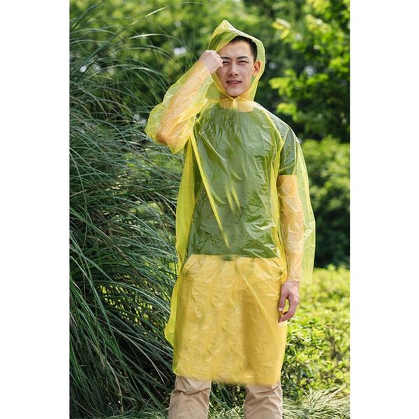Solid Adult Rain Covers Rainwear One-Time Emergency Waterproof Cloth Raincoat Rain Covers For Women Men #179531