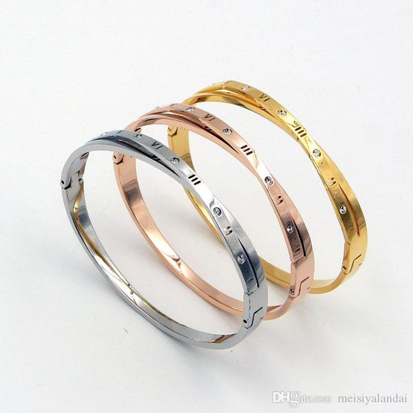 New Cross Rome Bangles & Bracelets Women Men Jewelry Fashion Stainless steel Bracelet For Girl Summer Party Special Accessory