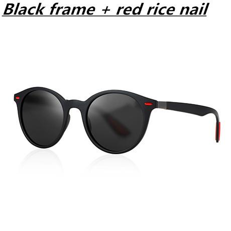 Schwarzer Rahmen + roter Reisnagel