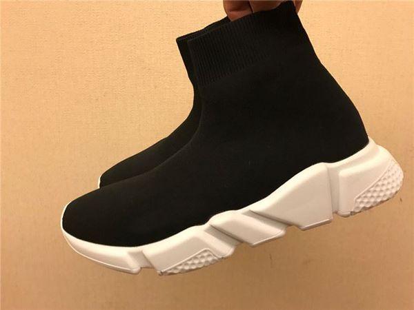 Novo luxo Sock Sapatos Calçados Casual Corredores de corrida Speed Trainer alta qualidade Sneakers Speed Trainer meia preta Sapatos homens e mulheres ShoesD05