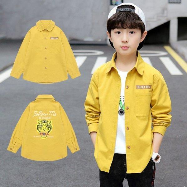 jaune chemise de tête de tigre