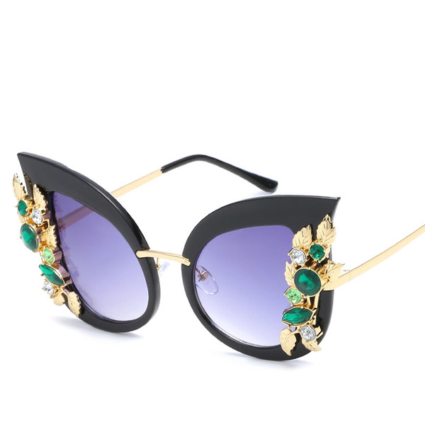 435fb4f767f88 2019 Oversized Mulheres Óculos De Sol Famosa Marca Designer de Olho de Gato  Fahsion Óculos de
