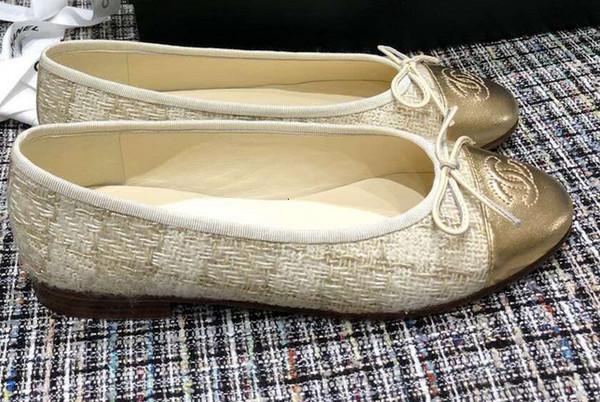 2019 de la moda ambiente sencillo clásico de otoño e invierno MS zapatos de la última explosión de nuevos zapatos de ballet de color