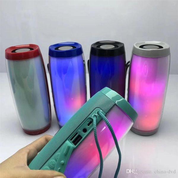 TG157 TG-157 Portable LED Bluetooth Speakers Wireless Waterproof Radio FM Radio Mini Column Bass MP3 Subwoofer USB TV Sound Bar Box