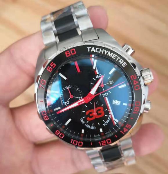 Luxe desingers mens quartz montres-bracelets acier inoxydable bracelet en caoutchouc confortable boucle originale de haute qualité montre de sport maître d'affaires