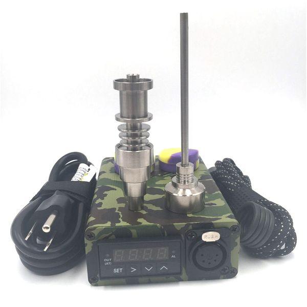 E Quartz nail kit electric dab nail portable dabber rig Titanium Nail dabbing wax vaporizer PID digital box for glass water bong