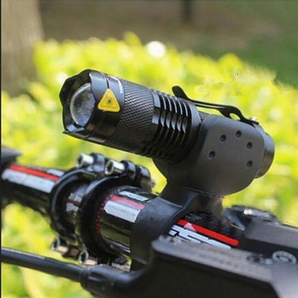 3 modos de luz de la bicicleta 2000 lúmenes Q5 bicicleta delantera luz led de 7 vatios impermeable anular de ciclismo con zoom linterna LED envío gratuito # 24324