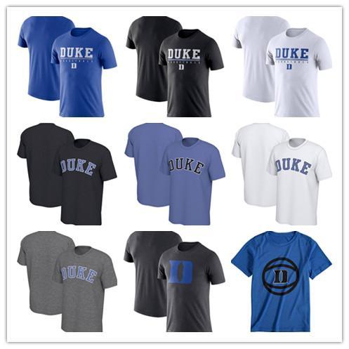 Duke Blue Devils Moda Verão Camiseta de Manga Curta Wordmark Basquete Praticar Desempenho Em Torno do pescoço camiseta