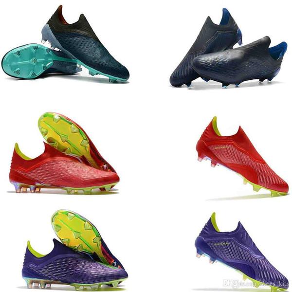 soccer mens cleats X 18 FG 39-45 soccer shoes original football boots outdoor scarpe da calcio high quality Nemeziz blackout