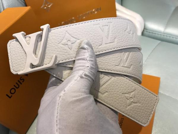 Cinturón de hombre Cinturón de cuero de vaca Cinturones de cuero genuino Hombre Hebilla automática Cinturones de cuero de vaca Cinturón de lujo COMFORT CLICK Negro / Marrón personalizar logo