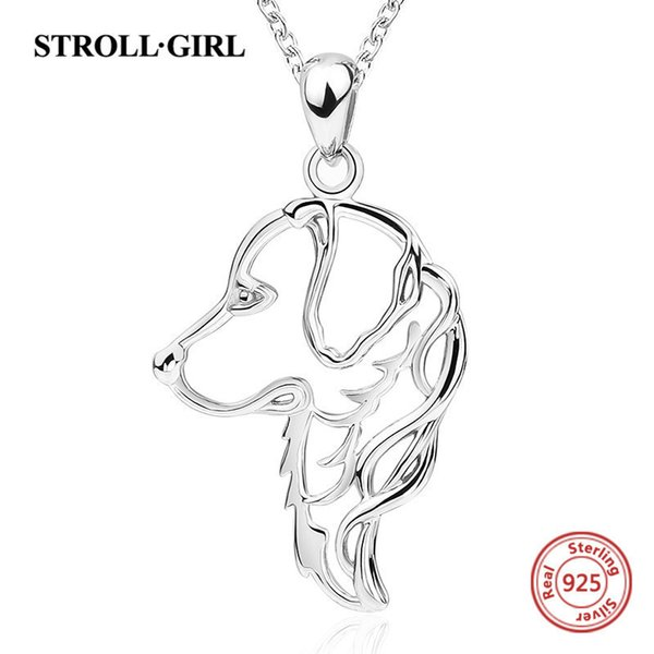 Strollgirl Sterling Silver 925 Cute Animal Dog Diy Chain Necklace&pendant European Fashion Jewelry Making For Women Gift 2018 Y19050802