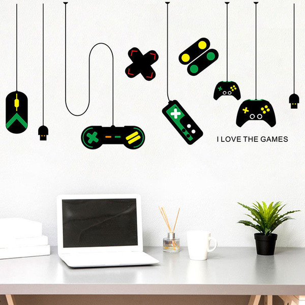 Wholesale 1 PCS I Love The Games Vinyl Wall Stickers Decal Office Decor Home Decoration Stickers Free Shipping