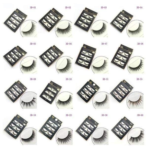Dropshipping 3D False eyelashes 16 Styles Handmade Beauty Thick Long Soft lashes Fake Eye Lashes Eyelash Sexy
