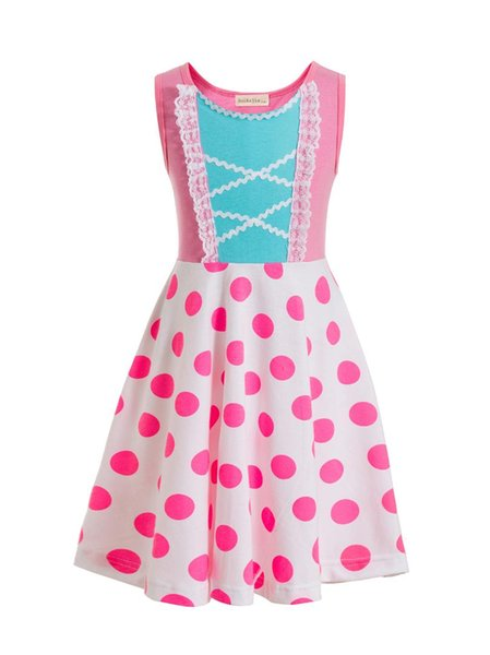 4 Bo Peep Costume for Children Bo Peep dresses for Kids Birthday party dresses princess Polka Dot Costume